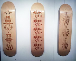 Skateboard Etchings